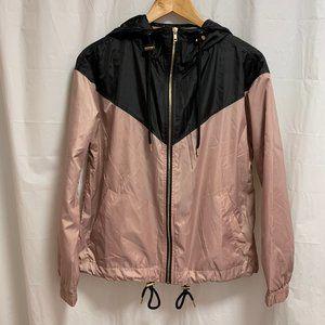 Forever 21 Rose Gold & Black Windbreaker Jacket
